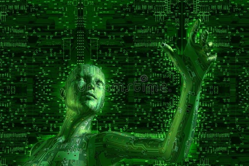 数字技术 皇族释放例证
