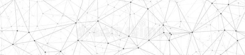 数字技术wireframe,灰色在白色背景的三角形状连接创造性的向量图形 皇族释放例证
