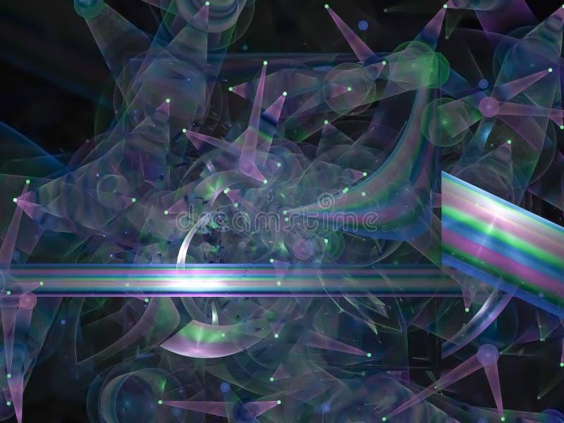 数字抽象分数维模板想象力混乱,样式,装饰的魔术,典雅的纹理 向量例证