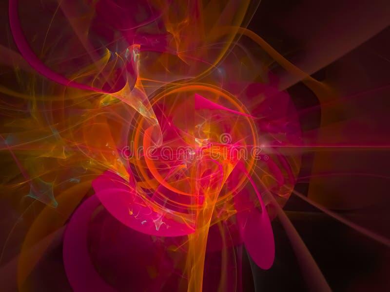 数字抽象分数维纹理能量,漩涡设计,幻想,欢乐 皇族释放例证