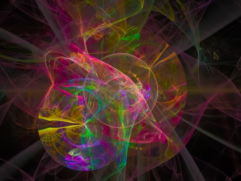 数字抽象分数维纹理能量,装饰漩涡设计,幻想,欢乐 向量例证