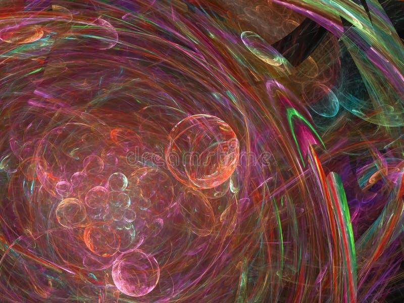 数字抽象分数维,图表纹理能量美好的设计,样式幻想,欢乐 库存例证