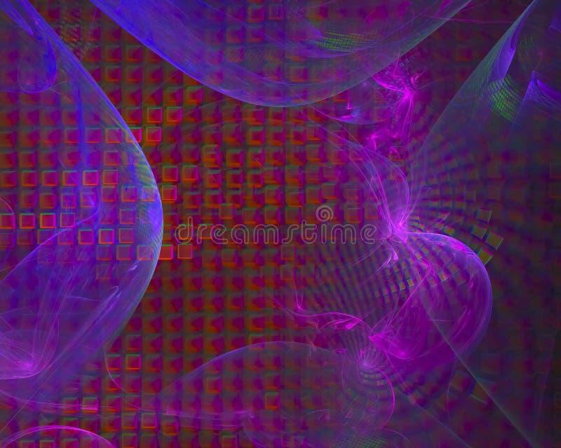 数字抽象分数维,意想不到的纹理美丽的墙纸未来派设计幻想 向量例证