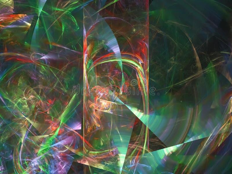 数字抽象分数维,纹理能量美好的设计,样式幻想,欢乐 库存例证
