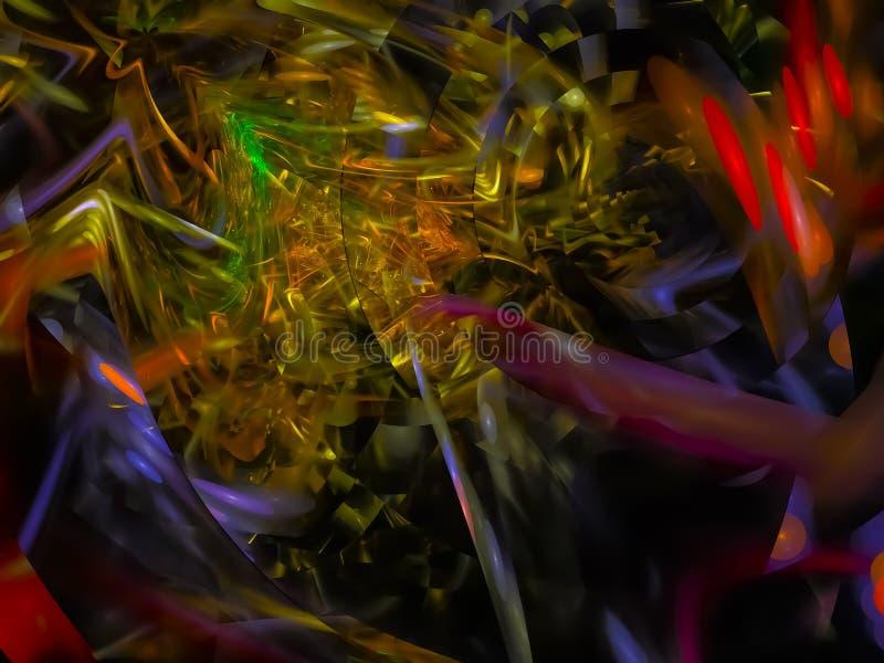 数字抽象分数维,能量模板纹理构成力量专属设计,幻想,欢乐 向量例证