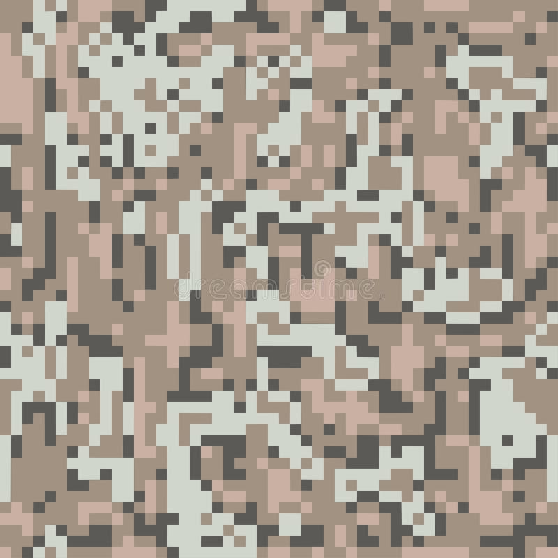 数字映象点伪装无缝的样式 沙漠camo E 皇族释放例证