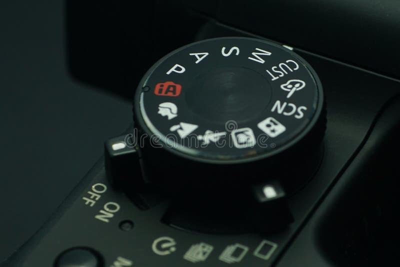数字照相机方式拨号盘 库存图片
