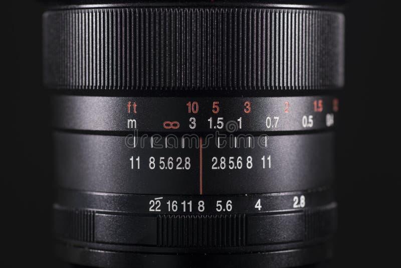 数字照相机的专业透镜 库存图片
