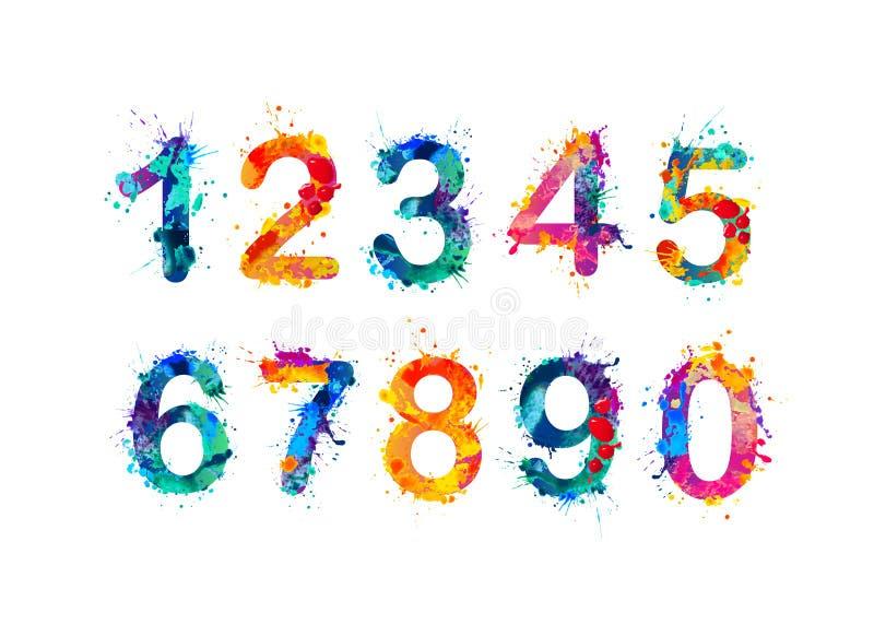 数字的汇集 数字,图 向量例证