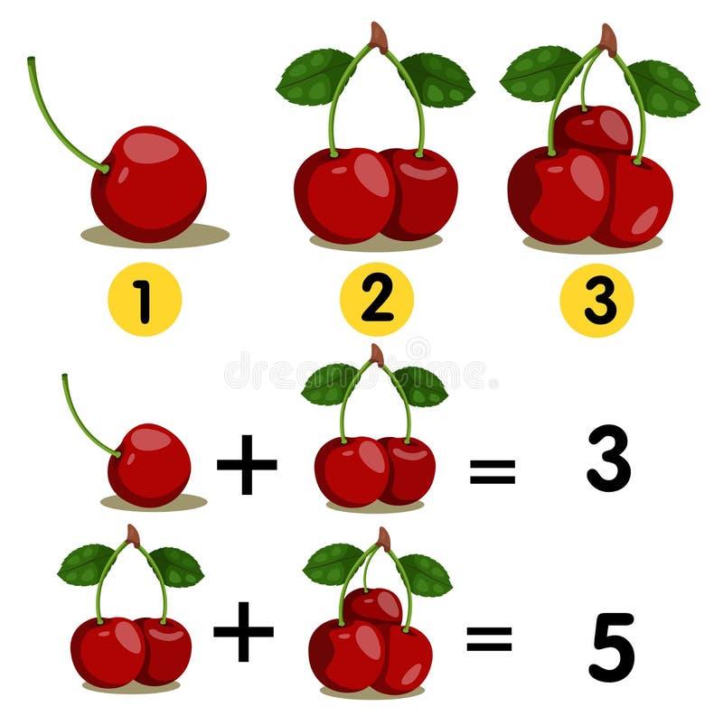 数字的以图例解释者和加上,补充说 向量例证