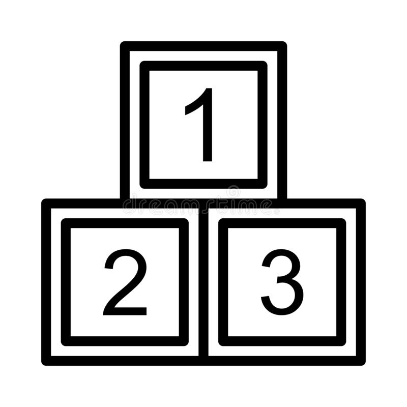 数字稀薄的线传染媒介象 向量例证