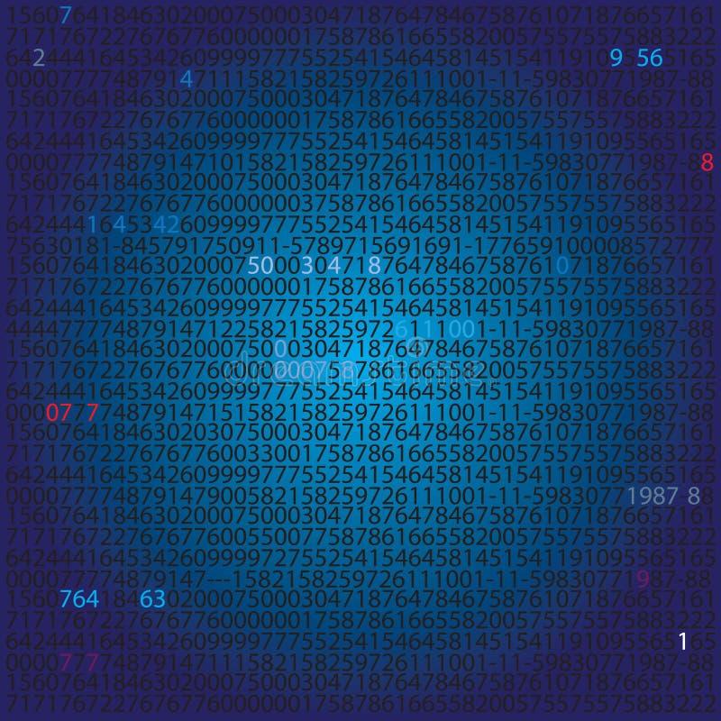 数字系统-背景 皇族释放例证