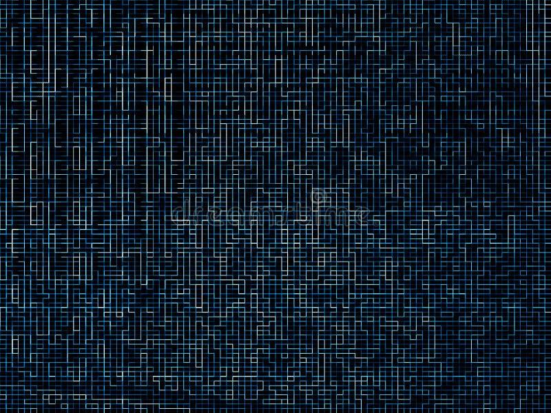 数字网蓝色迷宫样式纹理背景 免版税图库摄影