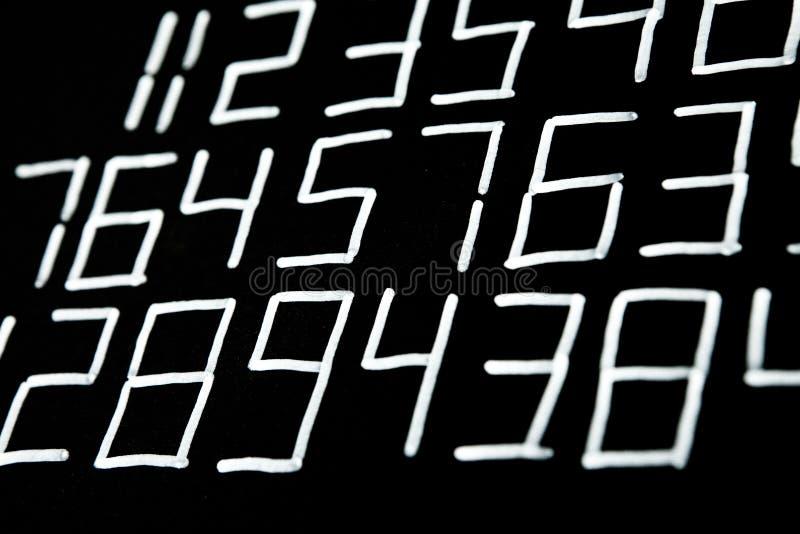 数字背景  从零到九 数字纹理 货币符号 命理学 数学等式和惯例 库存图片