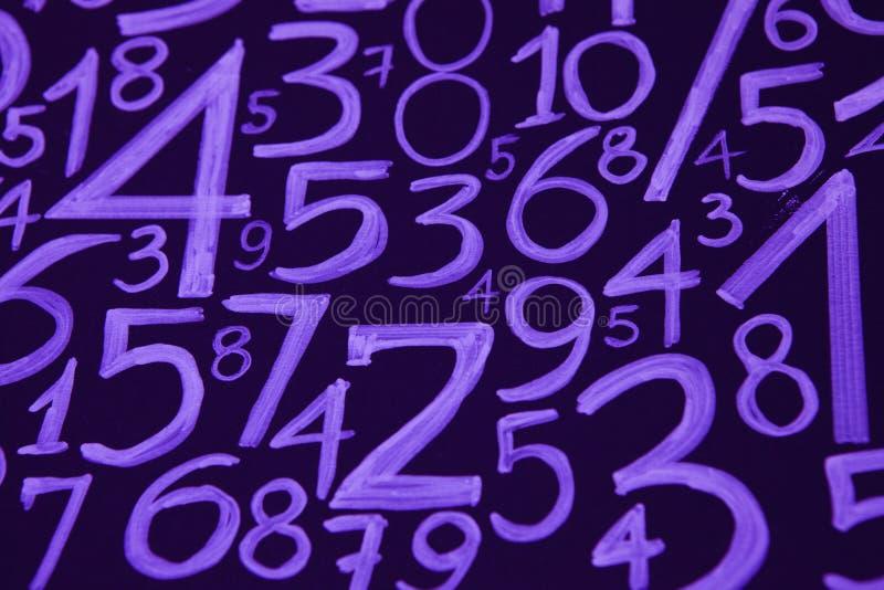 数字背景 从零到九 数字纹理 3d上色了货币高例证图象多解决方法符号 命理学 数学等式和配方 图库摄影