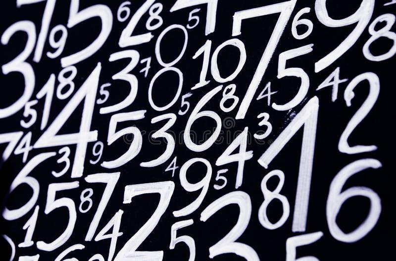数字背景 从零到九 数字纹理 3d上色了货币高例证图象多解决方法符号 命理学 数学等式和配方 库存图片