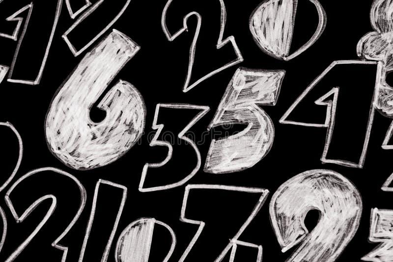 数字背景 从零到九 数字纹理 3d上色了货币高例证图象多解决方法符号 命理学 数学等式和配方 免版税图库摄影