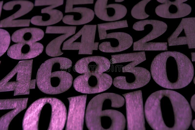数字背景 从零到九 背景例证计算向量 数字纹理 库存图片