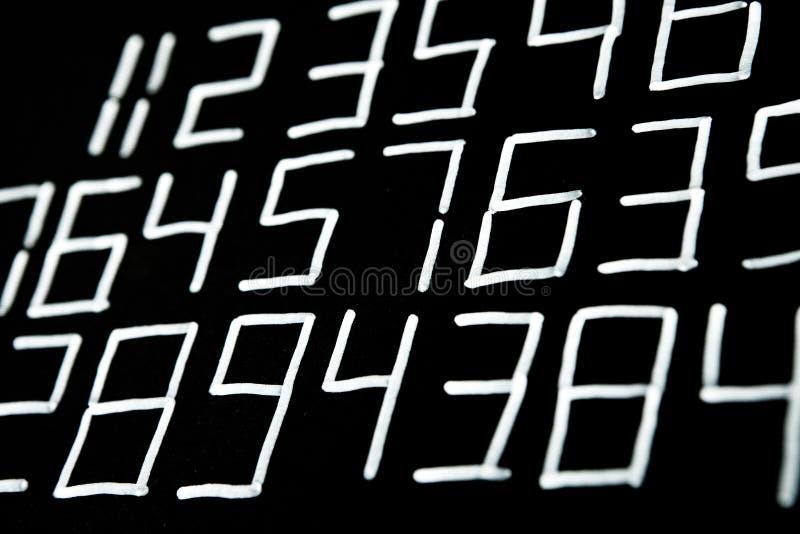 数字背景 从零到九 背景例证计算向量 数字纹理 免版税图库摄影