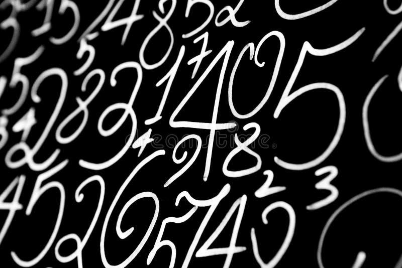 数字背景 从零到九 背景例证计算向量 数字纹理 免版税库存图片