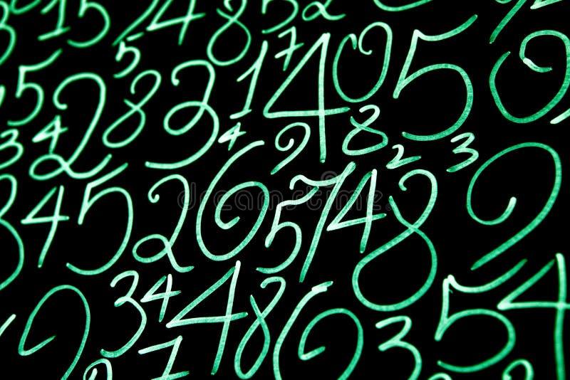 数字背景 从零到九 背景例证计算向量 数字纹理 免版税库存照片