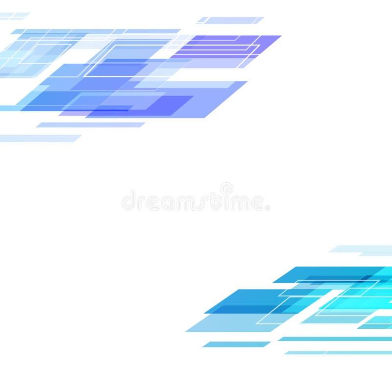 数字艺术封面设计在白色摘要b的技术模板 库存例证