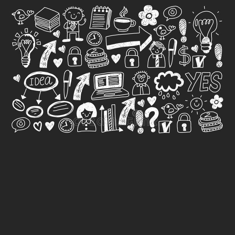 数字营销、社交媒体、通信、管理、企业 库存例证