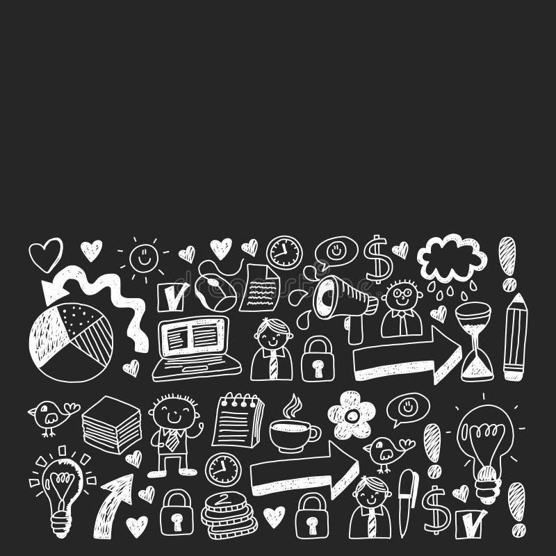 数字营销、社交媒体、通信、管理、企业 向量例证