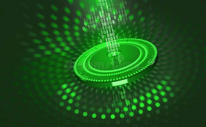 数字资料保护 在全球网络的互联网安全 向量例证