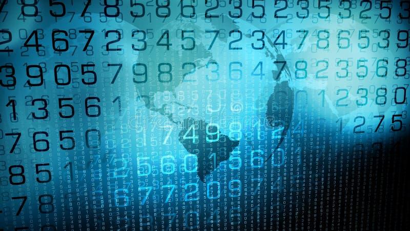 数字资料网络世界安全想法 库存例证