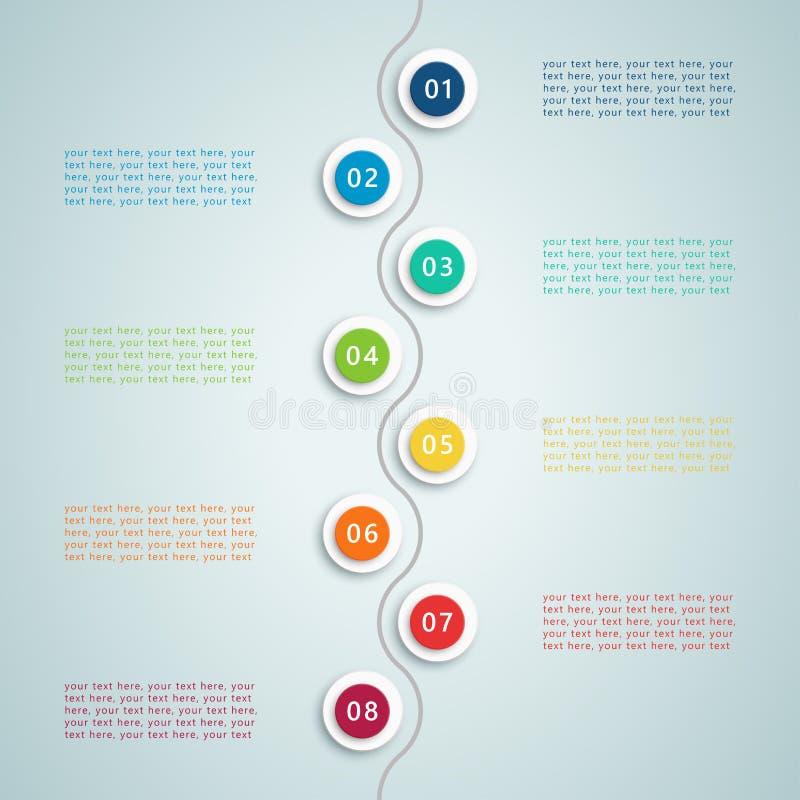 数字跨步Infographic 5 皇族释放例证