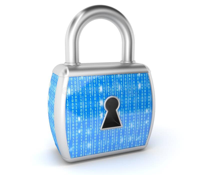 数字锁,e安全概念 皇族释放例证