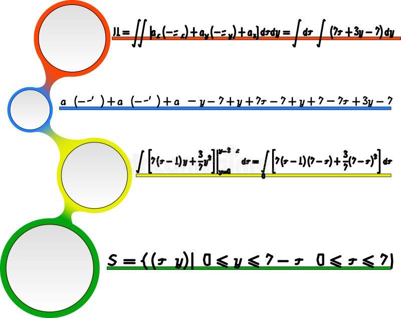 数学与惯例的传染媒介无缝的样式 向量例证