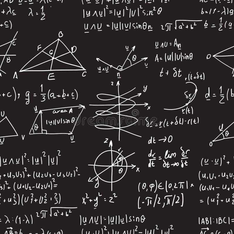 数学传染媒介无缝的样式 皇族释放例证