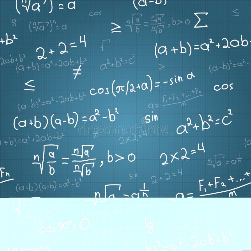 数学公式传染媒介无缝的样式 库存例证