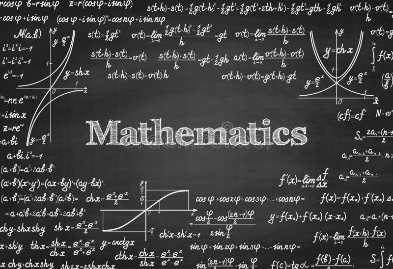 数学在黑板的传染媒介无缝的样式 皇族释放例证