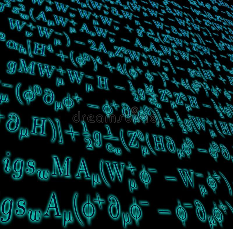 数学复杂的配方 免版税库存照片