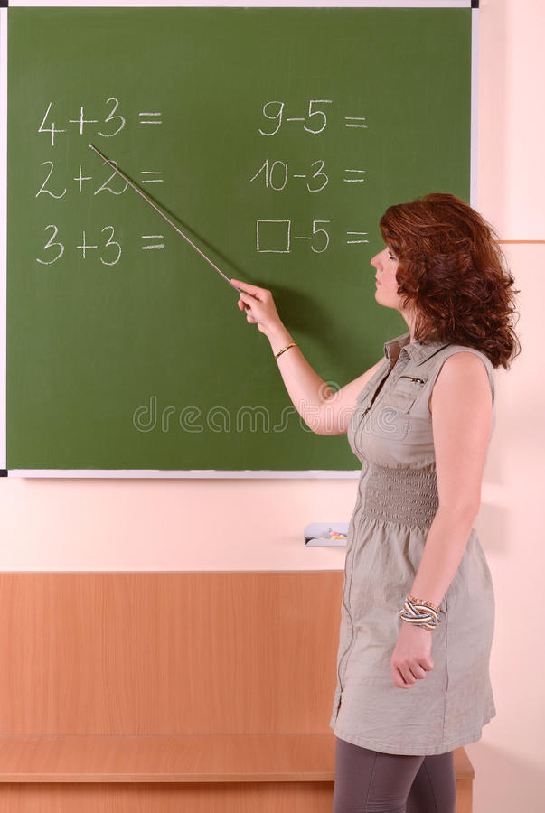 数学教师 免版税库存图片