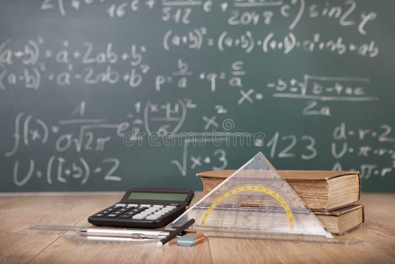 数学教训 免版税库存图片
