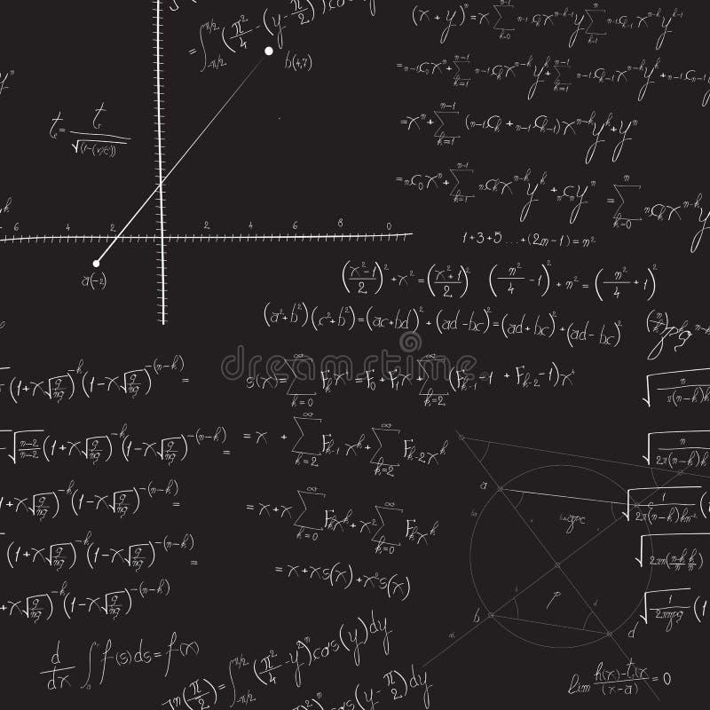 数学无缝的样式 向量例证