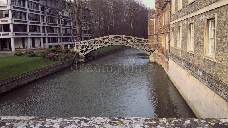 数学桥梁,剑桥 库存图片