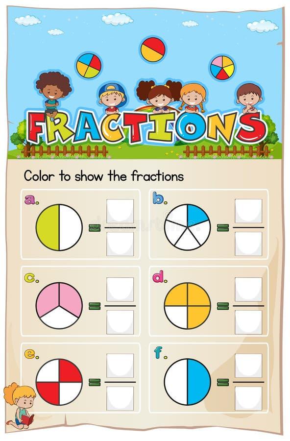 数学活页练习题分成几部分与图片的章节 皇族释放例证