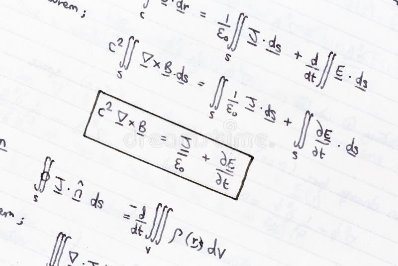 数学的等式 免版税库存照片
