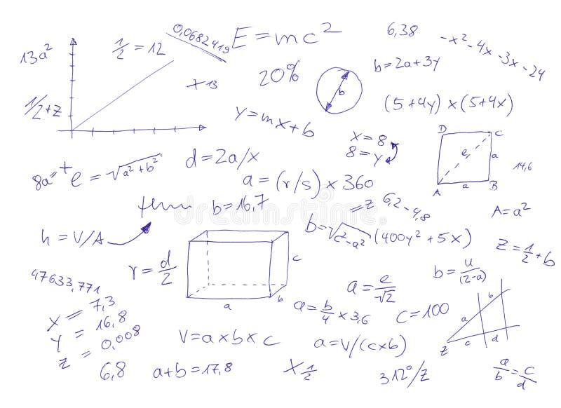数学的等式 皇族释放例证