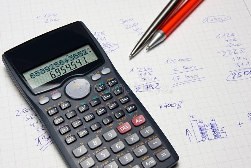 数学的计算器 库存照片