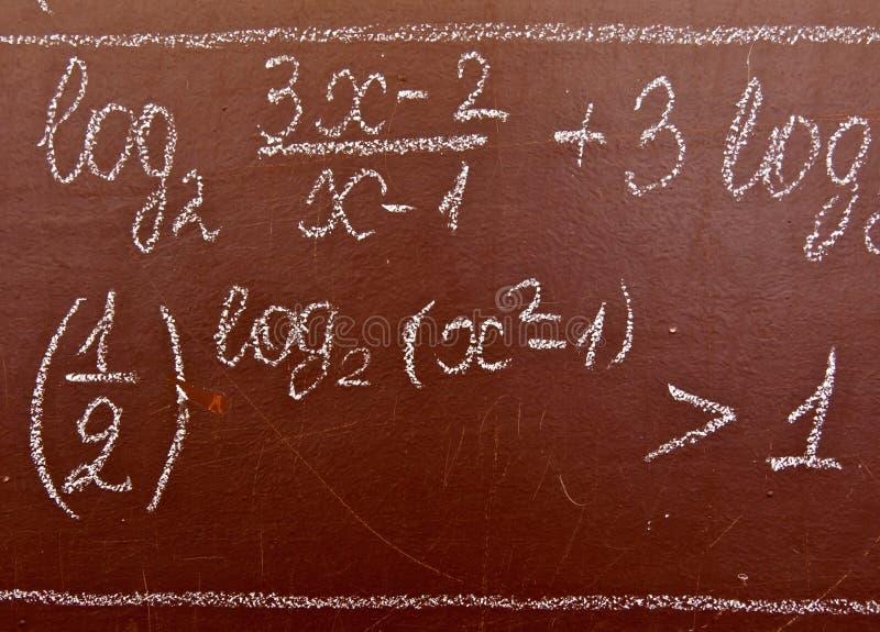 数学的配方 库存照片