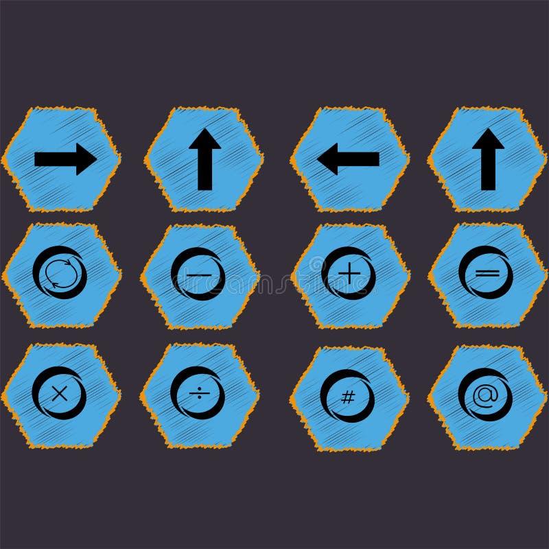 数学符号和图 图库摄影