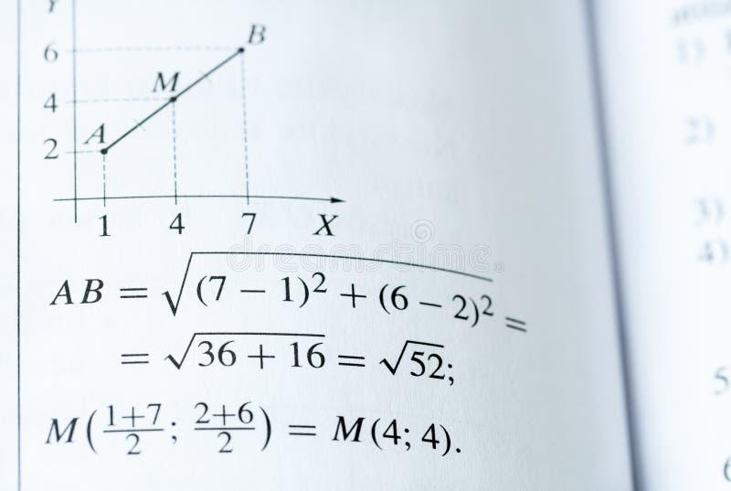 数学课本 免版税库存图片