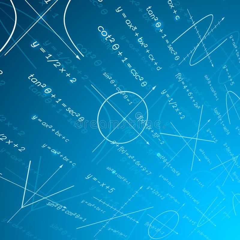 数学透视背景 向量例证