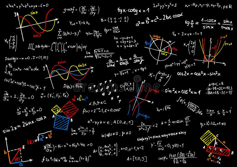 数学 皇族释放例证